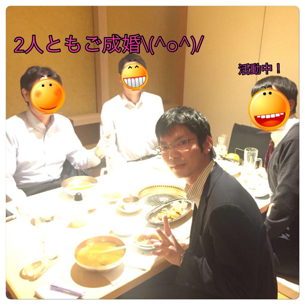 梅田の焼肉店でお祝い